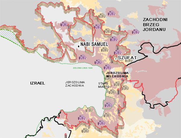 mapa jerozolima
