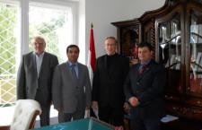 Dr Idris Mayya (na zdj. drugi z lewej), chargé d`Affaires a.i. w Ambasadzie Syryjskiej Republiki Arabskiej w Warszawie, p.o. ambasadora, w rozmowie z portalem Geopolityka.net.