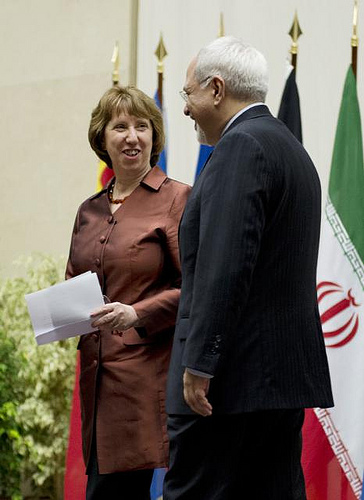 Catherine Ashton i Mohammad Dżawad Zarif. Fot: UN/Flickr