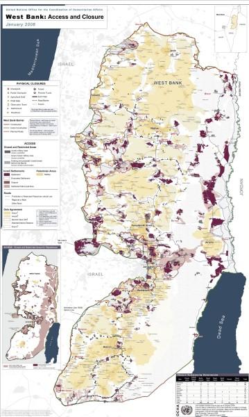 Mapa osiedli, źrodło: OCHA
