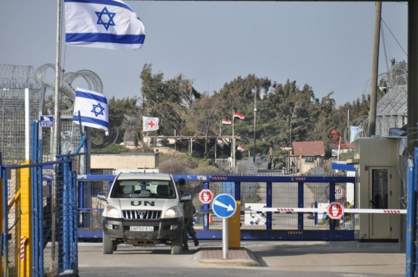 Przejście graniczne obsadzone przez siły ONZ na Wzgórzach Golan (aut. Escla, opublikowano na licencji Creative Commons Attribution-Share Alike 3.0 Unported).