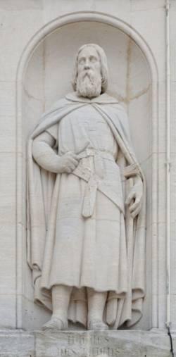 Figura Hugona z Payens w Dijon (fot. François de Dijon, opublikowano na licencji Creative Commons Attribution-Share Alike 3.0 Unported).