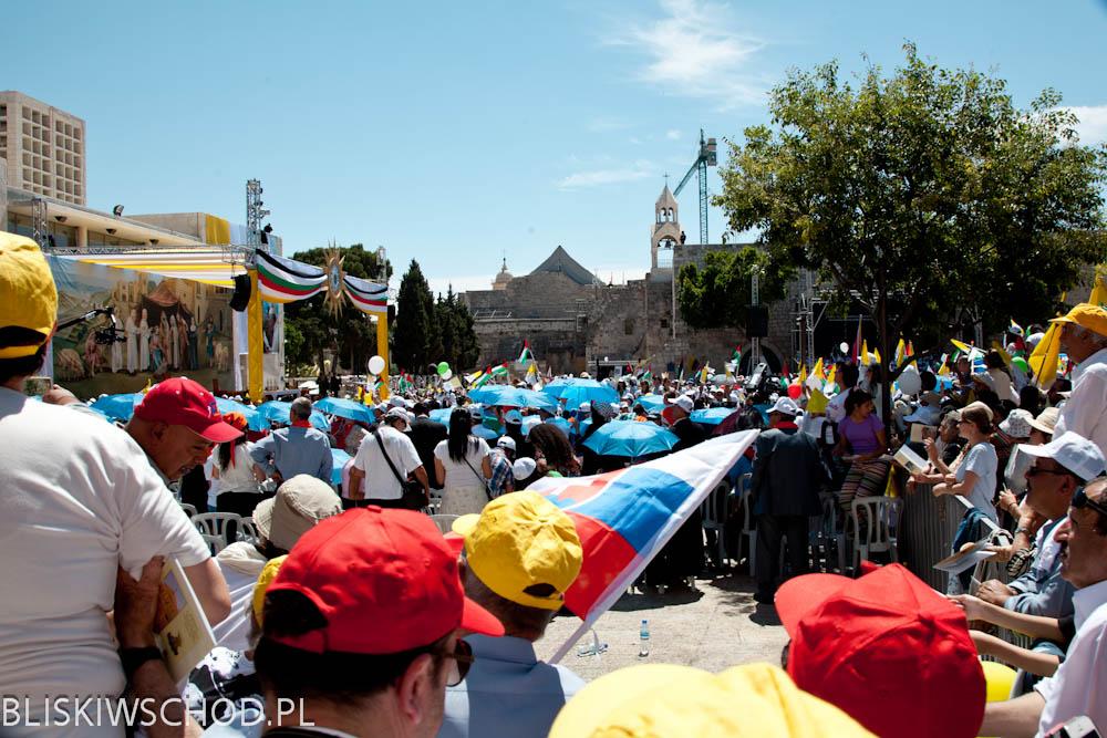 Betlejem - wizyta Papieża