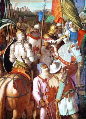 Arabowie pod Paryżem (mal. Julius Schnorr von Carolsfeld)