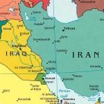 peta wilayah irak - iran