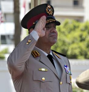 Abdel As-Sisi jako minister obrony. Źródło wikcommons